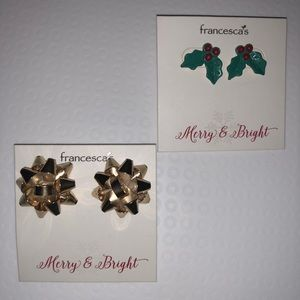 Two pairs holiday earrings from Francesca's